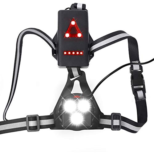 Lafalink Running Lights for Runners Chest Torch for Running,3 LED Chest...