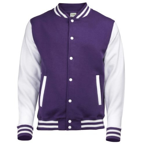 MAKZ Veste universitaire, 10 couleurs fantastiques - Violet - XS