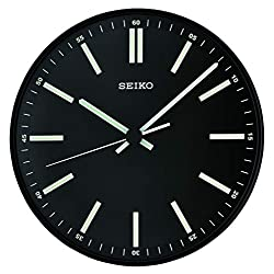 Seiko 12 Black Wall Clock with White Markers