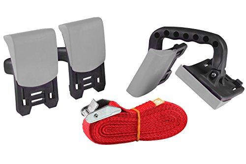 kwb KRAFTIXX Tragehilfe Set – 3 m Tragegurt inkl. 2 Haltegriffe für einfaches Transportieren schwerer Möbel beim Umzug