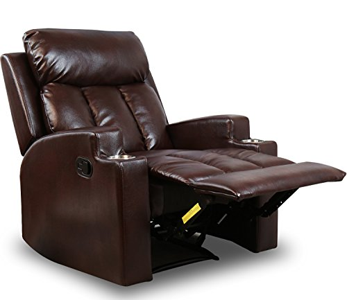 BONZY Contemporary Theater Seating Leather Chairs