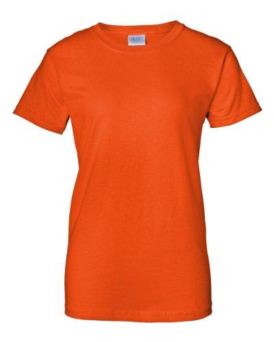 Gildan womens Ultra Cotton 6 oz. T-Shirt(G200L)-ORANGE-L