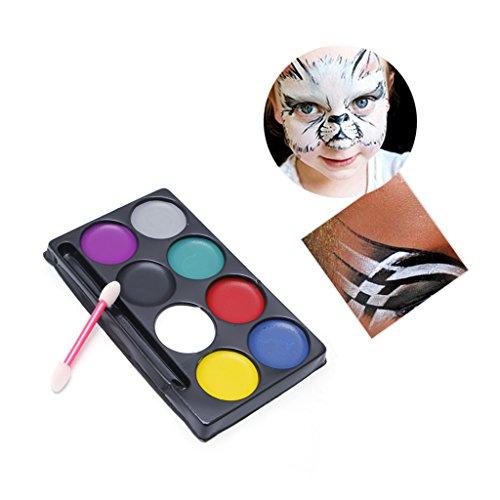 Exing - Juego de pinturas al óleo, 8 colores, para el cuerpo y la cara, kit de maquillaje artístico