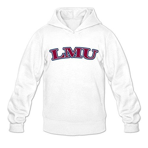 JJTD LMU Cute 100% Cotton White Long Sleeve Sweatshirts for Adult Size L