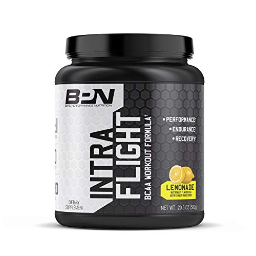 Bare Performance Nutrition, Intra-Flight, Branch Chain Amino Acids, Ultimate Endurance Supplement, Increase Endurance and Stamina, 2:1:1 BCAA + Recovery (Lemonade)