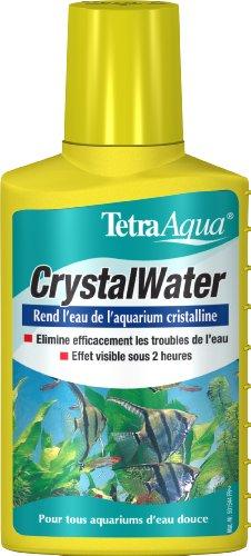 Tetra CrystalWater – Agglomère et facilite l'élimination des particules en suspension - Clarifie l'eau rapidement – Tous types d'aquarium d'eau douce - 100 ml