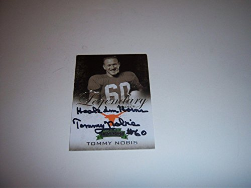 Autographed Tommy Nobis Picture - Texas Longhorns stamp Card - JSA Certified - College Autographed Miscellaneous Items