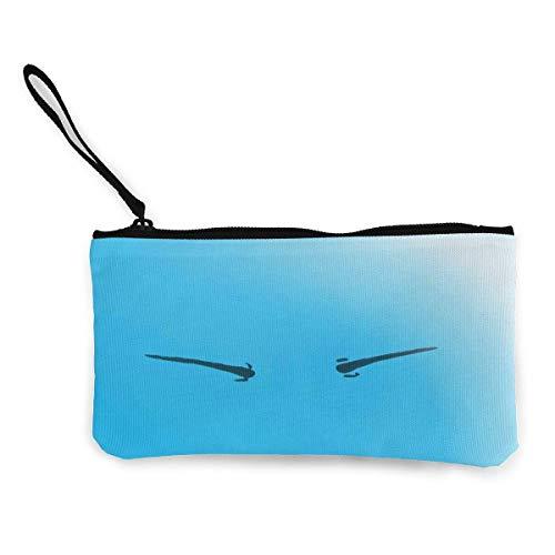 shibeili Quella Volta che mi Sono reincarnato Come un popolare borsellino portamonete in Tela con cerniera e portamonete Borse portafogli in Stile Anime