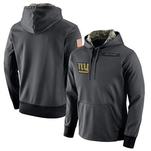 XXMM NFL Hoodie, New York Giants Football-Sweatshirts Für Männer Herbst Und Winter High Neck Hoodie Long Sleeve Mantel, Angenehm Zu Tragen,L(170~175cm)