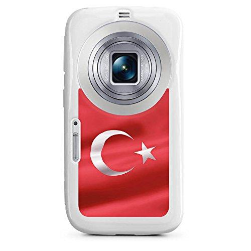 DeinDesign Cover kompatibel mit Samsung Galaxy K Zoom Silikon Hülle Hülle weiß - Türkei