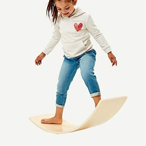 N&M Products Kids Balance Board, Rocker Board, Wobble Board, Wooden Yoga Toy