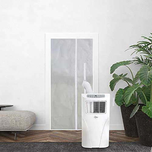 Sekey Sellador de puerta para aire acondicionado móvil, aire acondicionado, secadoras de secadora, Hot Air Stop con cremallera para fijar en puertas de balcones, alternativa al sellado de vent
