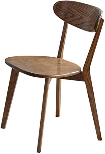 Silla de juegos de oficina, silla de escritorio, silla de comedor, sillas de ordenador, respaldo de arco, marco de madera, peso de 150 kg, 43 x 49 x 80 cm, 49119B4D3A (color: marrón)