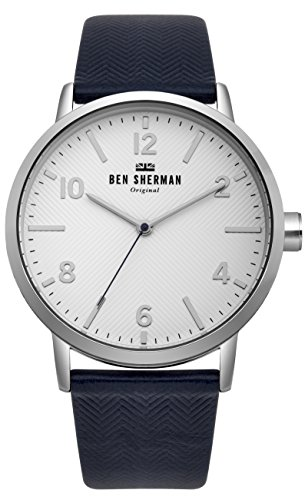 Ben Sherman Herren Datum klassisch Quarz Uhr mit Nylon Armband WB070UB