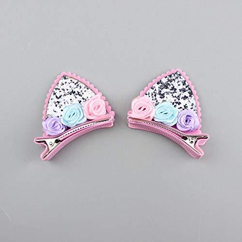 AOXQ Los niños lindo horquilla clip niña bebé princesa lado clip accesorios para el pelo tocado 2-8