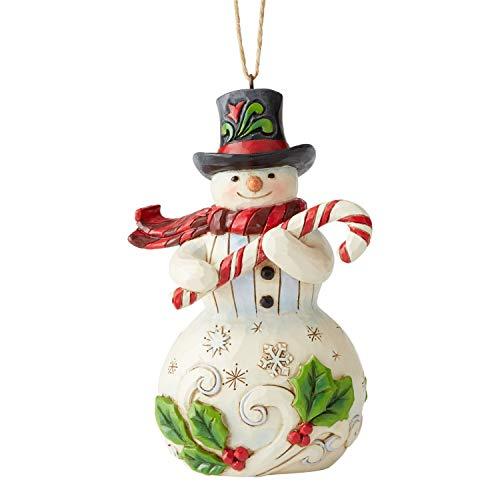 Jim Shore Heartwood Creek Sospensione Babbo Natale con Bastone, 12 cm