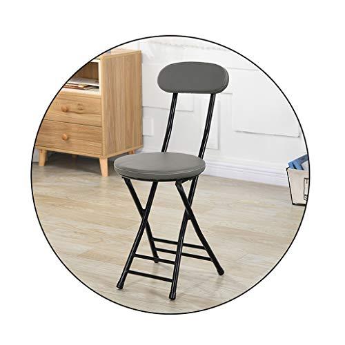 Tabouret pliant, 28x36x46cm portable chaise avec dossier (disponible en 4 couleurs), multi-usages Tabouret (Color : D)