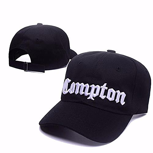 Yooci Cap West Beach Gangsta City Crip NWA Compton Skateboard Cap Hysteresenhut Hip Hop Fashion Baseball Caps Anpassen Flat-Brim Cap-Schwarz