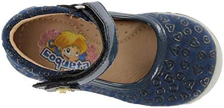 COQUETA Girls Closed Shoes with Iron Work and Whip Non Slip Sole