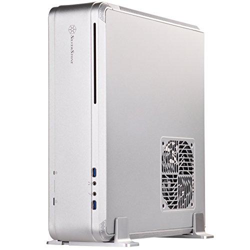 SilverStone SST-FTZ01S - Carcasa de Ordenador Fortress Mini-ITX para Juegos de Alto Rendimiento, Plata