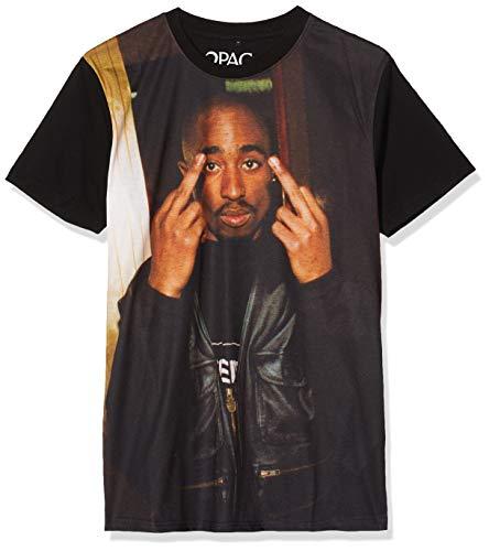 Mister Tee Herren Tupac Trust Nobody Tee T-Shirt, Black, M