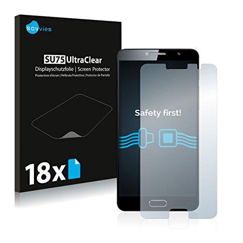 Savvies 18x Schutzfolie kompatibel mit Alcatel Flash Plus 2 Bildschirmschutz-Folie Ultra-transparent