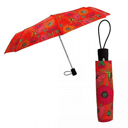 Pylones Regenschirm, faltbar, Mohnblumen