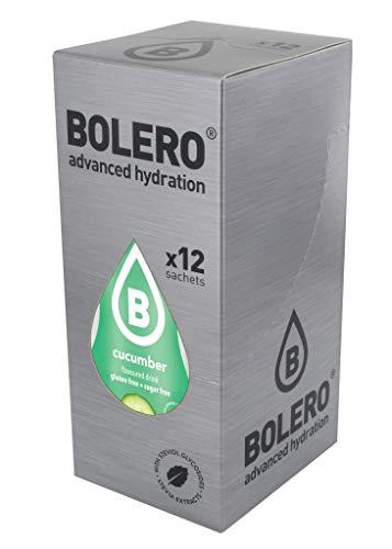 Bolero advanced hydration Instant Getränkepulver Gurke Cucumber 12er Pack mit Stevia - zuckerfrei - für Sportler (Gurke Cucumber)