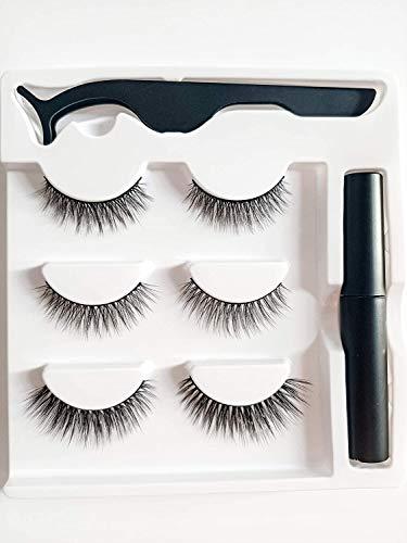 Magnetische Wimpern, Magnetischer Eyeliner, Magnet Wimpern, Künstliche Wimpern, 6 ultradünne Magnete, wasserfestem Eyeliner, wiederverwendbare falsche 3D magnetischer wimpern
