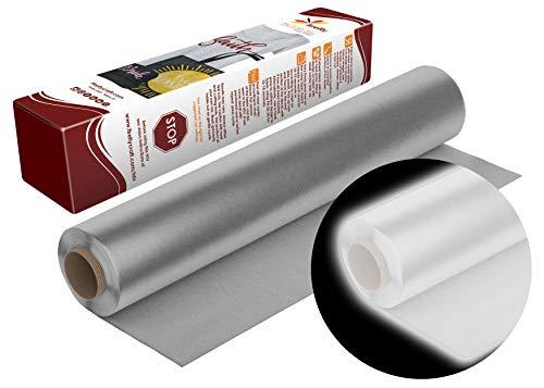 Firefly Craft Reflektierendes silbernes Wärmetransfer-Vinyl | reflektierendes HTV-Vinyl | zum Aufbügeln für Cricut und Silhouette | 1,5 m x 3,8 m Rolle | Hitzepresse Vinyl für Hemden