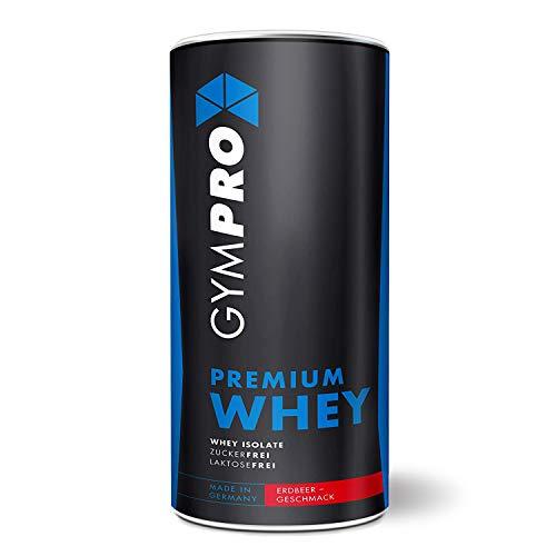 GymPro - Premium Whey Protein Pulver (Erdbeere 1000g) laktosefrei mit 88{7ffa35ddb06ea04b045dbeda6c1fb513c0b68bf66602f6277d9341aa3d63575c} reinem Eiweiss. Whey Isolat & Whey Konzentrat mit Aminosäuren (BCAA).