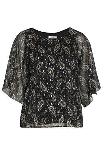 PAPRIKA Damen große Größen Bluse aus Polyester mit Paisley-Print Rundhals Lange Ärmel