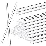 30 Pieces Acrylic Dowel Rods Acrylic Round Rod Cake Topper Rod Stick Acrylic Lollipop Sticks for...