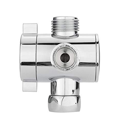PIDSNI Spray Set 1pc Pulgada de Ducha Brazalete de Ducha Válvula de Adaptador T de Tres vías de Tres vías para Inodoro Bidet Cabeza DE Ducha Válvula de desviador: Herramientas de desvío del Grifo