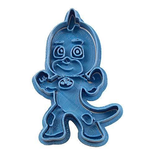 Cuticuter PJ Masks Gekko Entero Cortador de Galletas, Azul, 8x7x1.5 cm