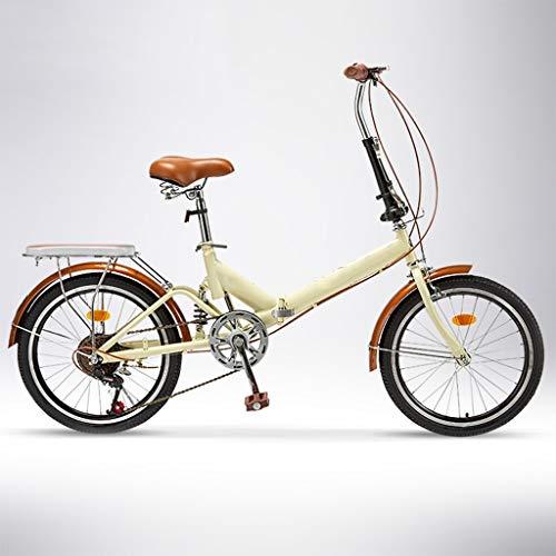 ZHEDYI 20 Pouces Jante Vélo Pliant Adulte, VTT, Vélo Vélos Vélo Cruiser 6 Vitesses, Vélos De...