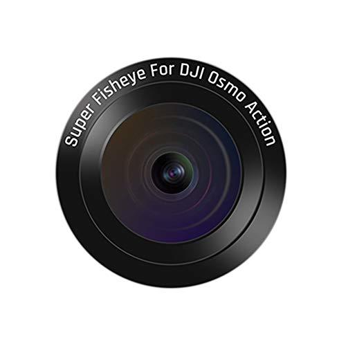 JVSISM para Osmo Action Espejo Adicional Fisheye Macro-Telescopio de Gran Angular Motion Camera Lens Filter Accessorie