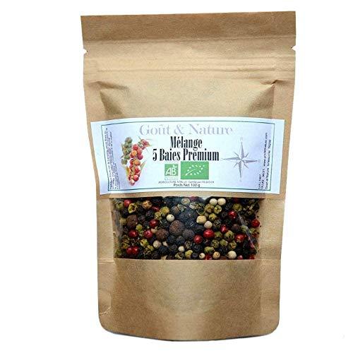 Bunter Pfeffer 100 gr- Bio schwarzer Pfeffer aus Kerala, Bio weißer Pfeffer aus Sri Lanka, Bio grüner Pfeffer aus Indien, Bio rosa Pfeffer und Bio Jamaika Pfeffer