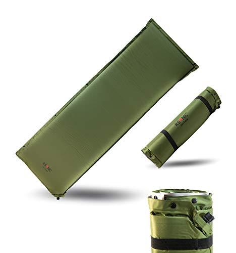RSonic Selbstaufblasende Isomatte | Selbstaufblasbare Matratze | Thermo Luftmatratze | Campingmatte | Ventil | erweiterbar | 220x80cm | (Stärke 8cm)