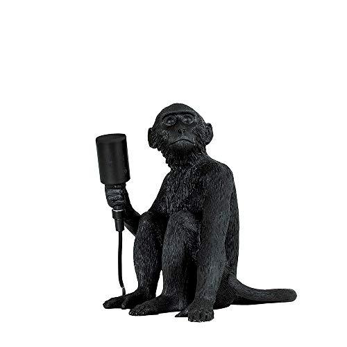 Minisun - Lampada da Tavola Scimmia – Resina Nera – Lampada Moderna – Classe di efficienza energetica A – Iluminazione Per Interni