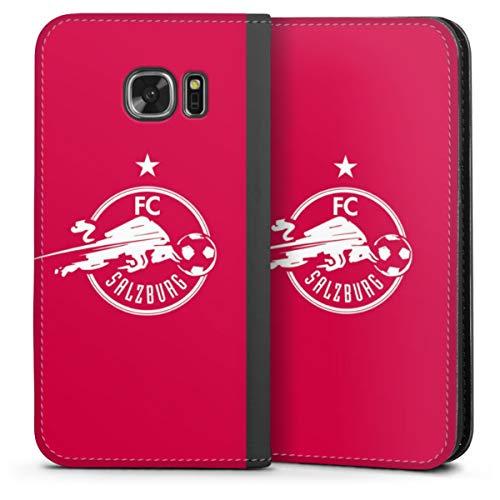DeinDesign Klapphülle kompatibel mit Samsung Galaxy S7 Handyhülle aus Leder schwarz Flip Case FC Red Bull Salzburg Fußball Fußballspieler