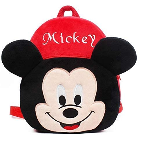 Pocket Whole Cute Kids Toddler Plush Animal Cartoon Mini Travel Bag Backpack for Baby Girl Boy 3-10 Years (Red)