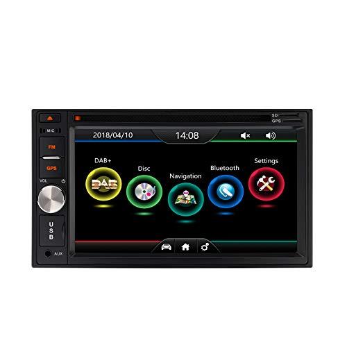 XTRONS Doble 2 Din 6.2 'HD pantalla táctil digital coche estéreo Radio reproductor de DVD con Dab+sintonizador GPS AUX Bluetooth función