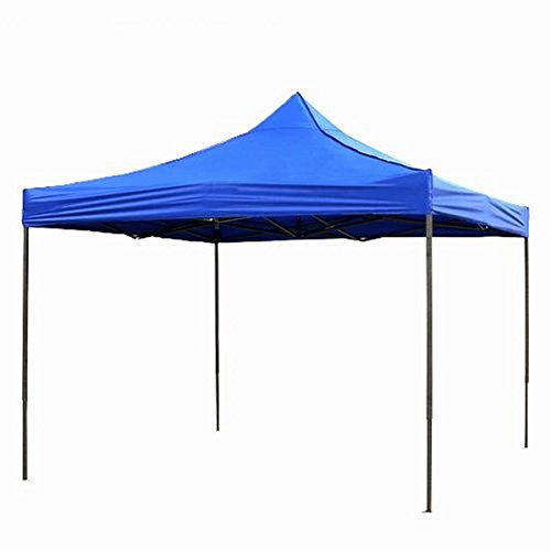 Qisan Holiday Sale 60% Off Folding Canopy Lightweight Gazebos Outdoor pop up Carport, Blue, 10 by 10-feet