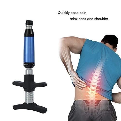 Kaxin handmatig massageapparaat voor de wervelkolom, draagbaar, 6 niveaus, 1 kop chiropractic spine correcte pasvorm