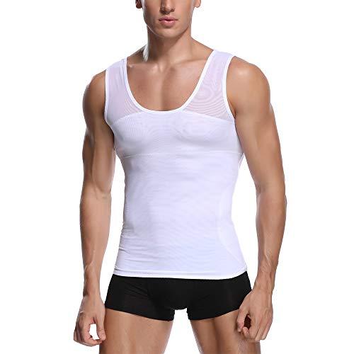 BaronHong Gynecomastia Chest Binder Men Shapewear Tummy Control Slimming Underwear Shirt