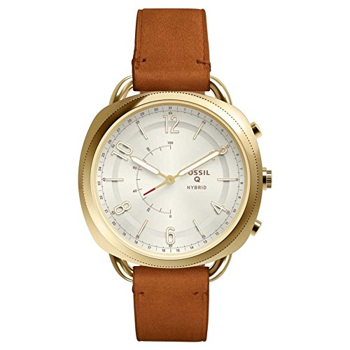 Fossil Damen Analog Quarz Smart Watch Armbanduhr mit Leder Armband FTW1201