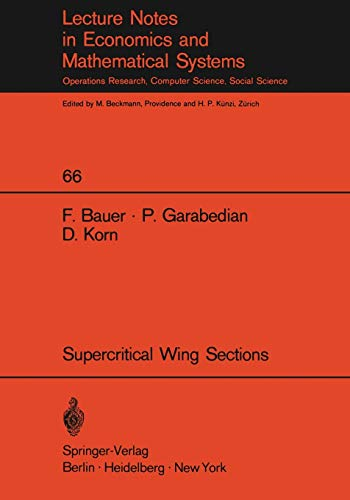 A Theory of Supercritical Wing Sections, with Computer Programs and Examples: With Computer Programs and Examples (Lectu