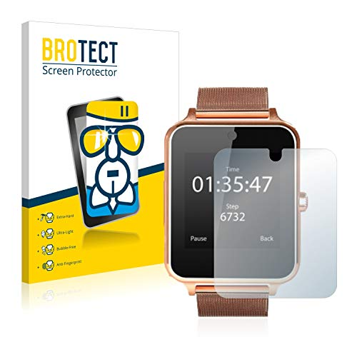 BROTECT Panzerglas Schutzfolie kompatibel mit Smartek Fitness Tracker SW832 - AirGlass, 9H Härte, Anti-Fingerprint, HD-Clear