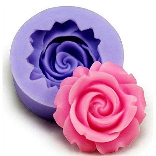 Romote Silikonform 3D Rose FlowerFondant Kuchen-Schokoladen-Zuckerfertigkeit-Dekoration-Form Multikitchen Gadget Backen-Werkzeuge
